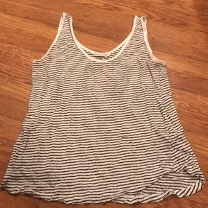 Zara Black and white striped tank top